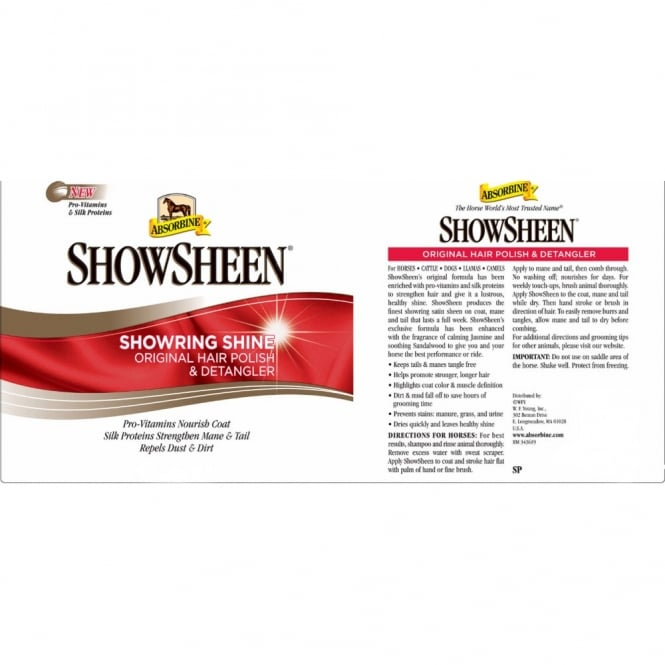 Absorbine Show Sheen Hair Polish & Detangler 946ml Refill