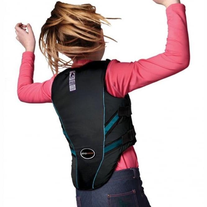 Horse Riding Airowear Junior Outlyne Body Protector Level 3 Black Regular