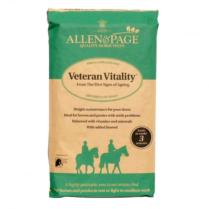 Allen & Page Veteran Vitality 20Kg - Horse Feed