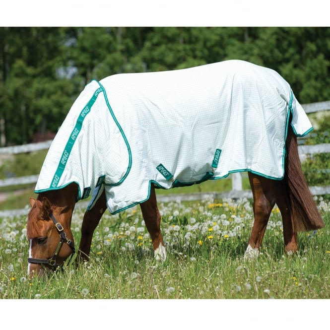 Amigo Aussie Allrounder Fly Rug White With Green