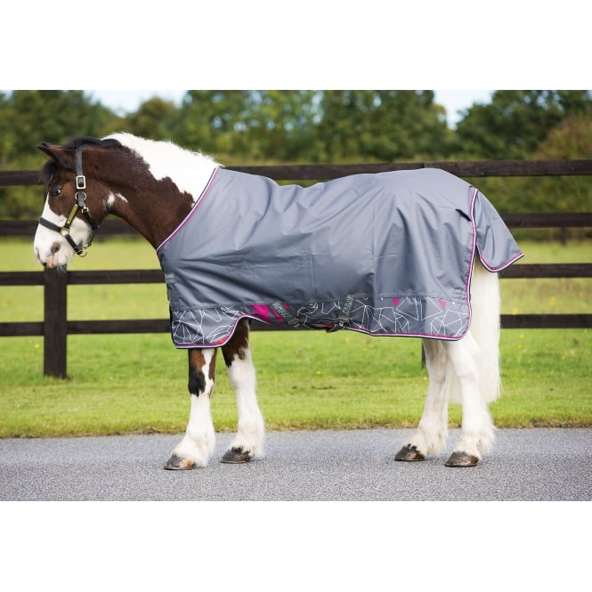 Amigo Hero 6 Lite 0g Pony Turnout Grey Origami Print