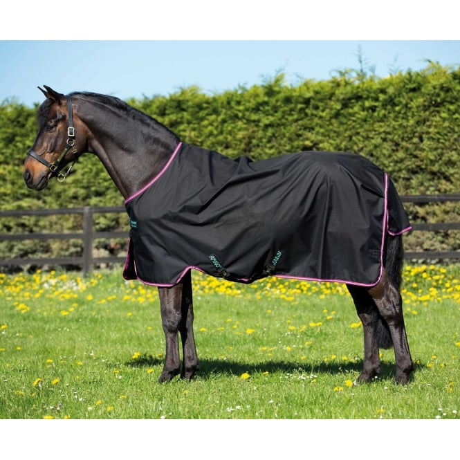 Amigo Hero 6 Lite Turnout Rug Black / Purple & Mint