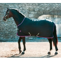 Stable Sheet Black With Purple & Mint