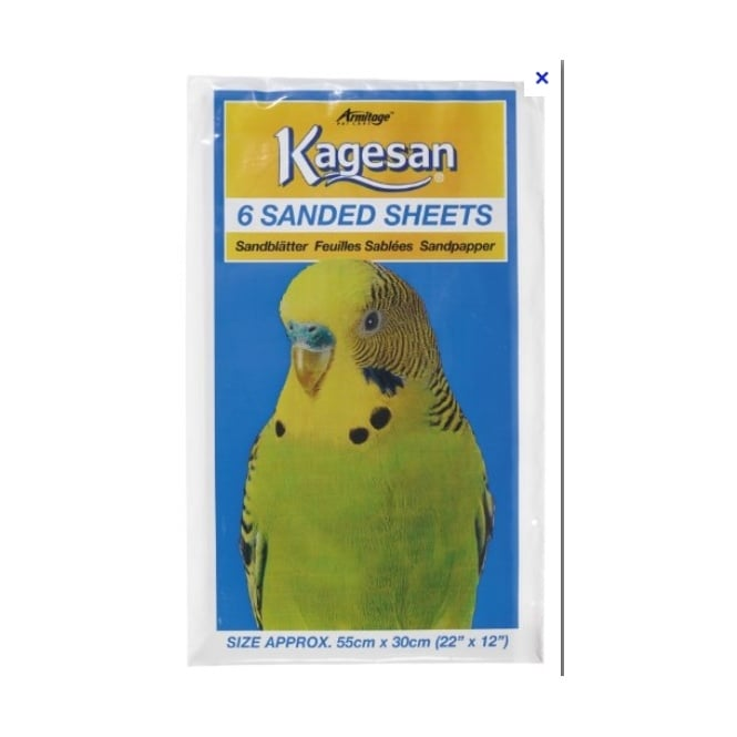 Armitage Kagesan Bird Cage Sand Sheets 55x30cm 6 pack