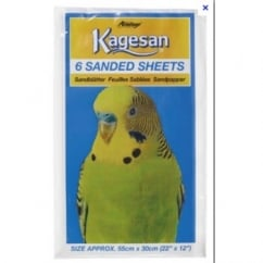 Kagesan Bird Cage Sand Sheets 55x30cm 6 pack