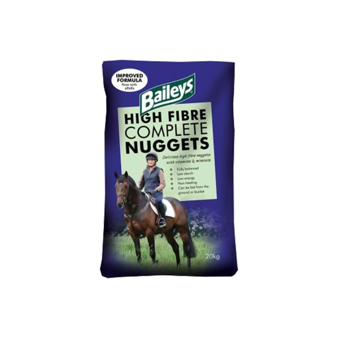 Baileys High Fibre Complete Nuggets - Horse Feed 20Kg