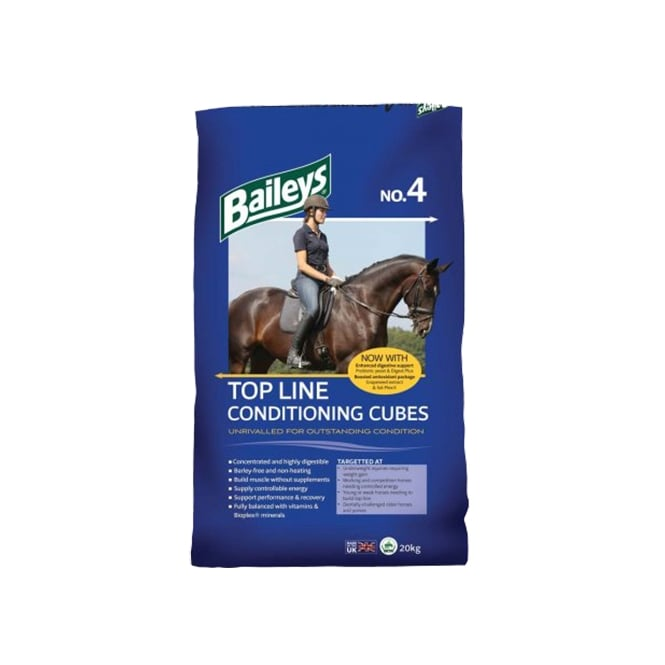 Baileys No 4 Top Line Conditioning Cubes Horse Feed 20Kg