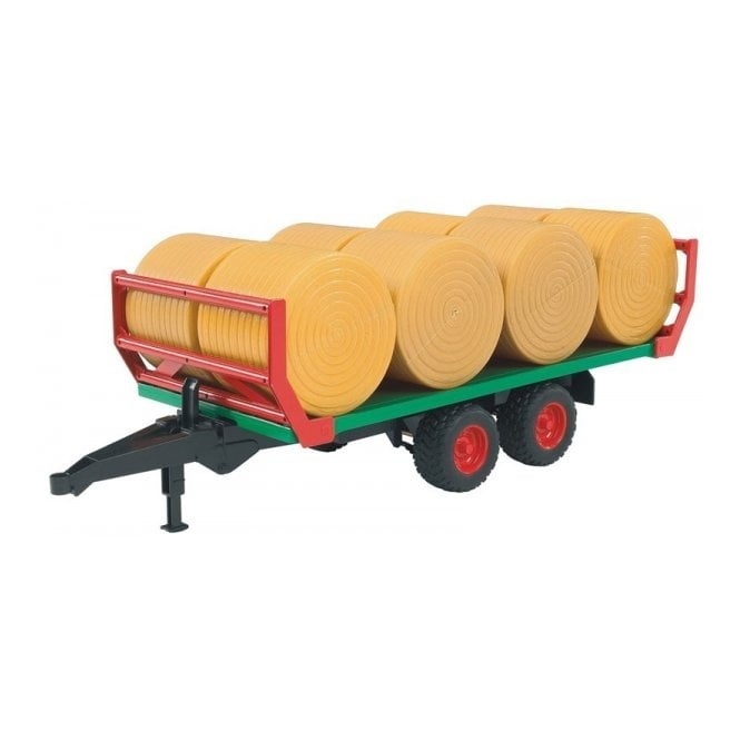 Bruder Bale Transport Trailer With 8 Round Bales 1:16 Scale Toy Model
