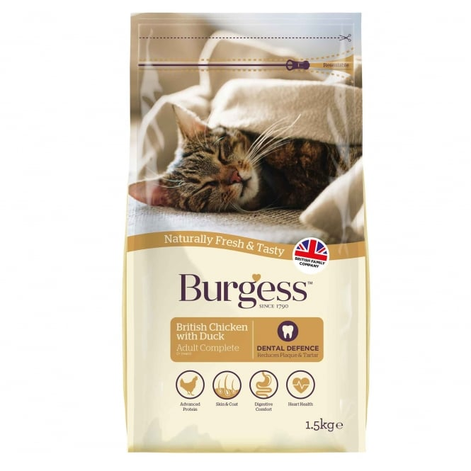 Burgess Adult Cat Food Chicken with Duck