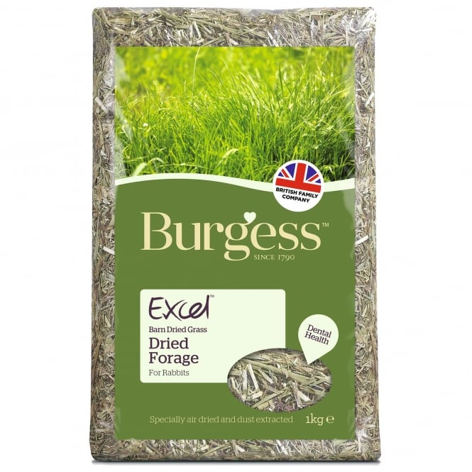 Burgess Excel Barn Dried Forage For Rabbits 1Kg
