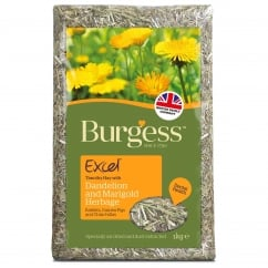 Excel Herbage Timothy Hay With Dandelion and Marigold 1Kg