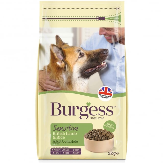 Burgess Sensitive Adult Dog Food Lamb & Rice
