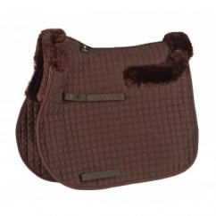Sheepskin Half Lined GP Saddlecloth Brown Full