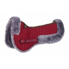 Sheepskin Half Pad - Burgundy