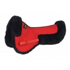 Sheepskin Half Pad - Red