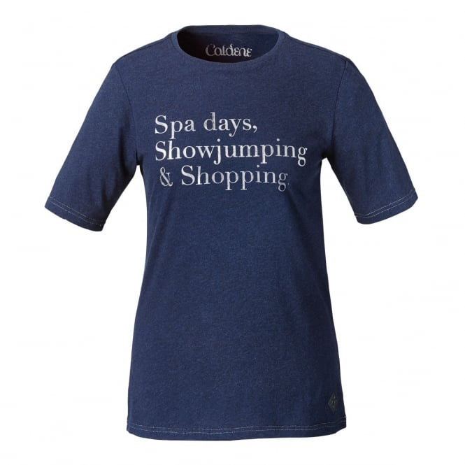 Caldene Spa Days Womens T shirt Navy