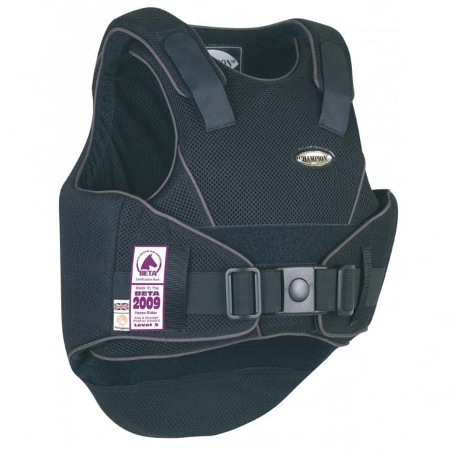 Champion Flexair Adult Body Protector Black/Grey - Regular Back