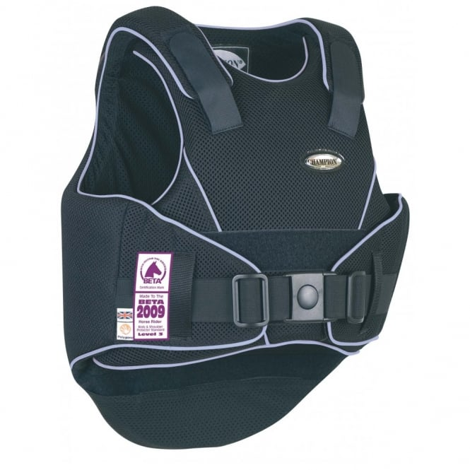 Champion Flexair Childs Body Protector Black/Blue - Regular Back
