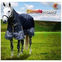 Climatemasta 100g Fixed Neck Turnout Rug Black/Grey