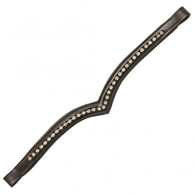 Cottage Craft V Shape Diamante Browband - Hanava