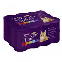 Country Choice Cat Meat - 12 x 400g Can Variety Pack