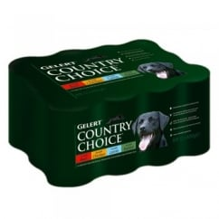 Country Choice Dog Meat - 12 x 400g Can Variety Pack