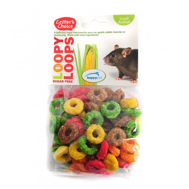 Critter's Choice Loopy Loops Small Animal Treats 50g