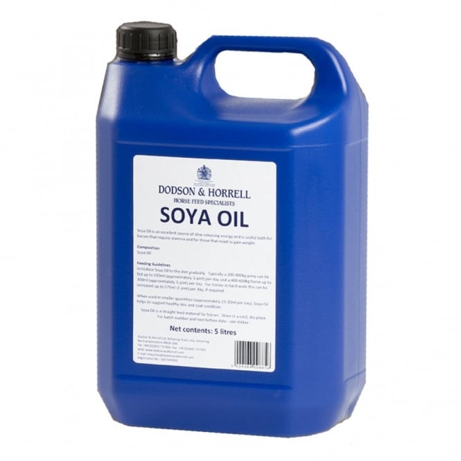 Dodson & Horrell Soya Oil 5Ltr - Horse Supplement