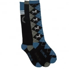 Dublin Crest 3 Pack Ladies Socks OneSize