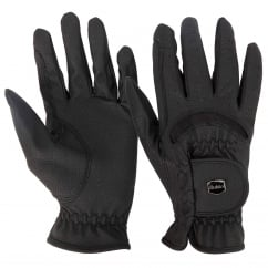 Dublin Dressage Riding Gloves Black Adults