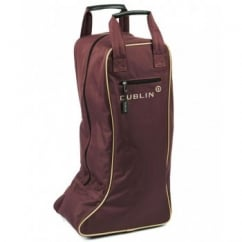 Dublin Imperial Long Riding Boot Bag Chocolate/Cream