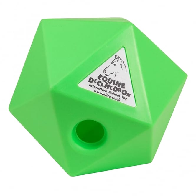 Elico Equine Decahedron Lime - Horse Toy