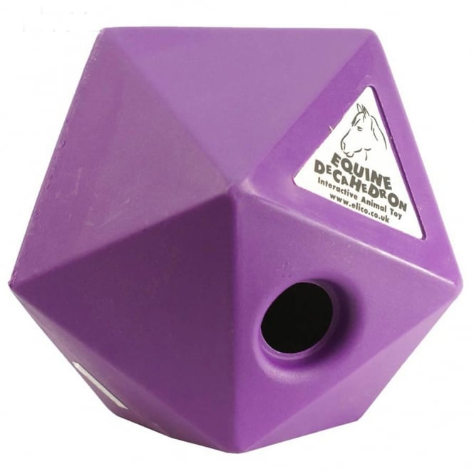 Elico Equine Decahedron Purple - Horse Toy
