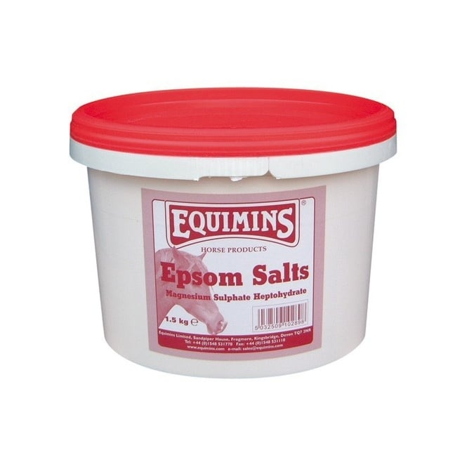 Equimins Epsom Salts 1.5Kg - Magnesium Sulphate Horse Supplement