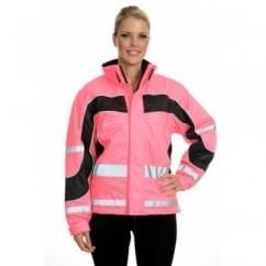 Aspey Winter Jacket - Hi Viz Reflective Horse Riding Jacket - Pink