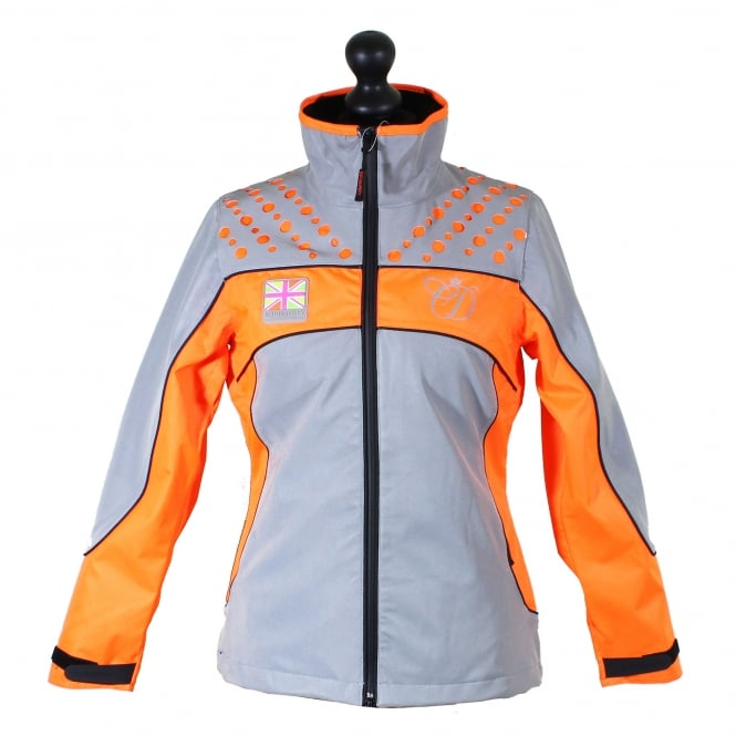Equisafety Charlotte Dujardin Mercury Reflective Jacket Orange