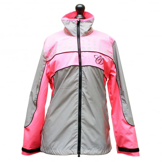 Equisafety NEW Design Charlotte Dujardin Mercury Reflective Jacket Pink