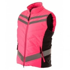 Quilted High Visibility Gilet Pink