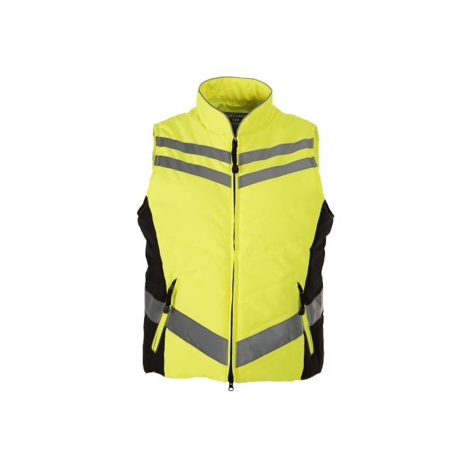 Equisafety Quilted High Visibility Gilet Yellow