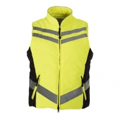 Quilted High Visibility Gilet Yellow
