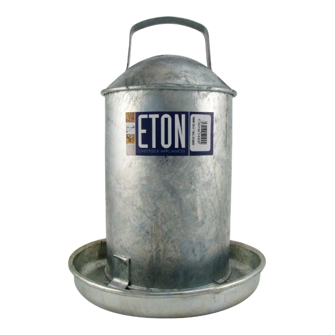 Eton Galvanised Traditional Poultry Drinker 2 Gallon (9 Ltr)
