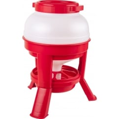 Tripod Poultry Feeder Red & White