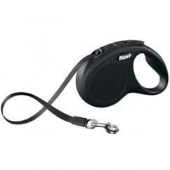 NEW Classic Retractable Tape Dog Lead Black