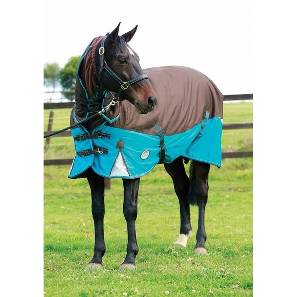 Freestyle 600d Combo Medium Turnout Rug Chocolate Ocean