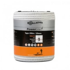Gallagher PowerLine Electric Fence Tape 20mm 200m