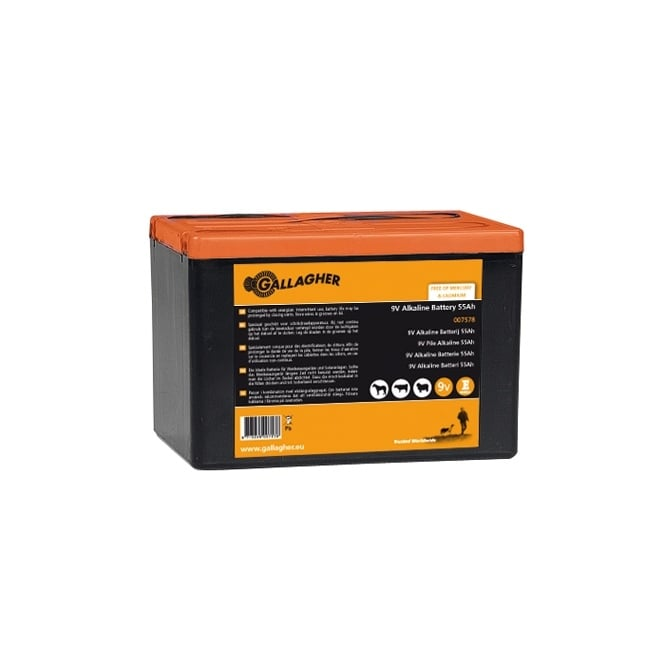 Gallagher Powerpack Electric Fence Battery 9V 55Ah