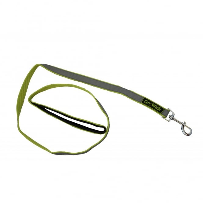 Happy Pet Go Walk Dog Lead Reflective Green