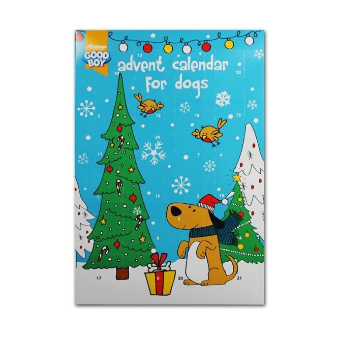 good boy advent calendar for dogs with dog treats at burnhills. Black Bedroom Furniture Sets. Home Design Ideas