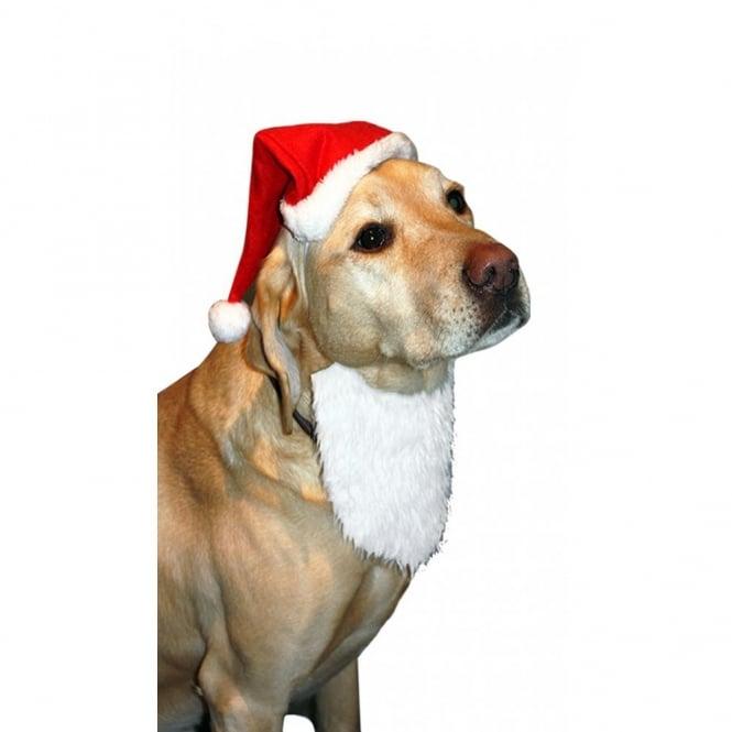 bd407d6a0f022 Happy Pet Dog Christmas Santa Hat And Beard Costume at Burnhills