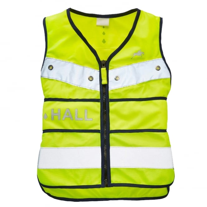 Harry Hall Adults Hi Viz Adustable Flashing LED Tabard Yellow